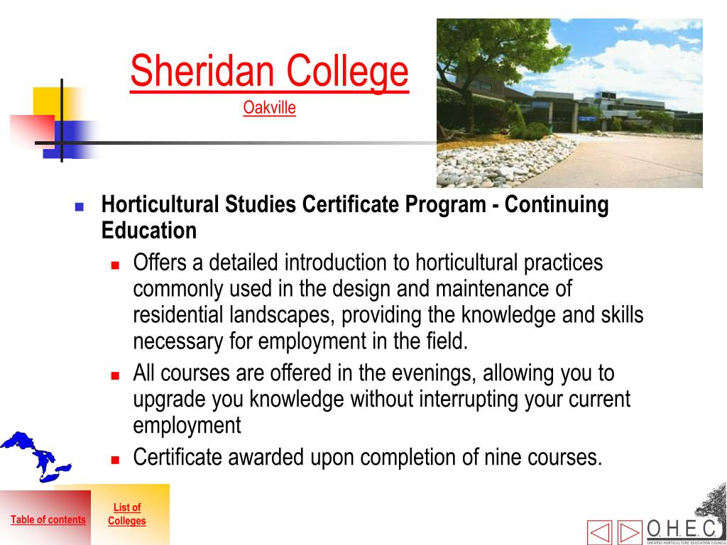 Horticultural Studies Certificate Program - Continuing Education