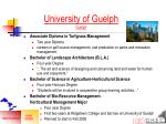 university of guelph guelph