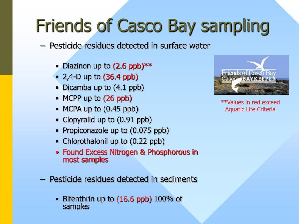 Friends of Casco Bay sampling