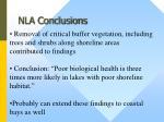 nla conclusions