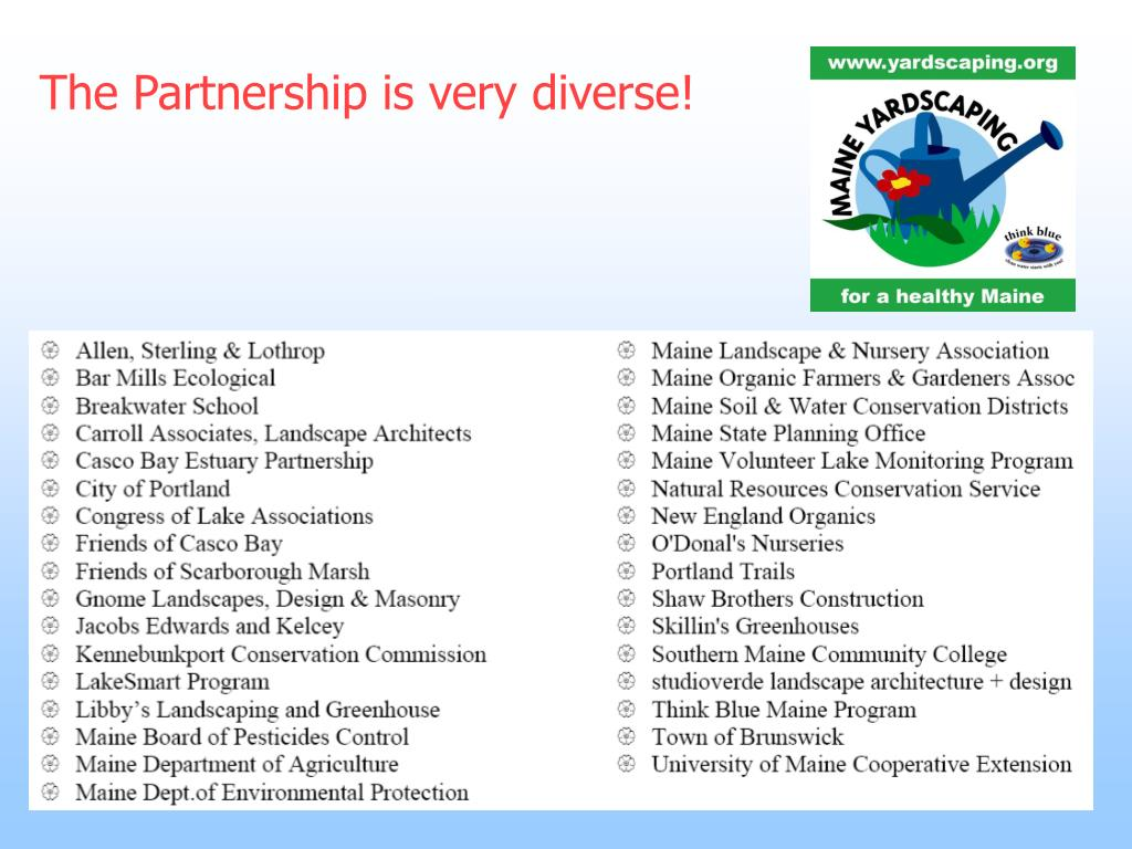The Partnership is very diverse!