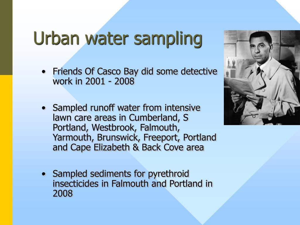 Urban water sampling