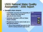 usgs national water quality assessment 2006 report