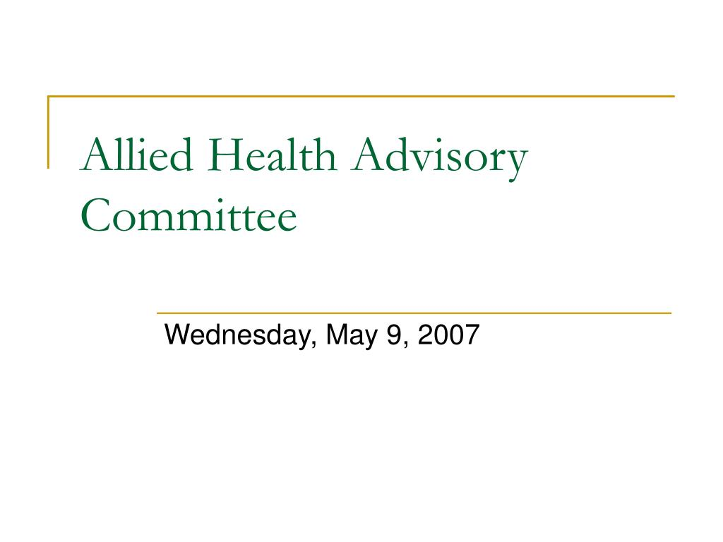 allied health advisory committee l.
