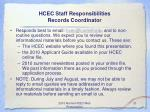 hcec staff responsibilities records coordinator21