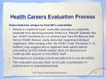 health careers evaluation process15