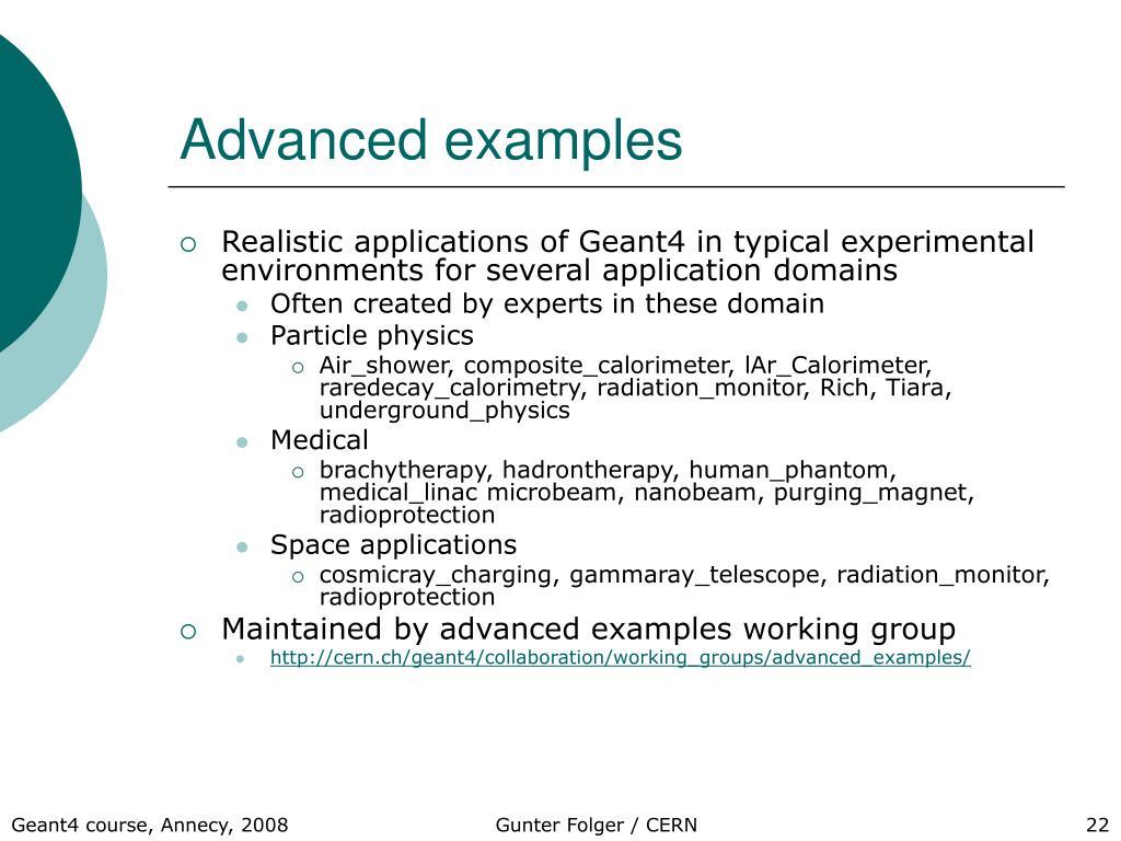 Advanced examples