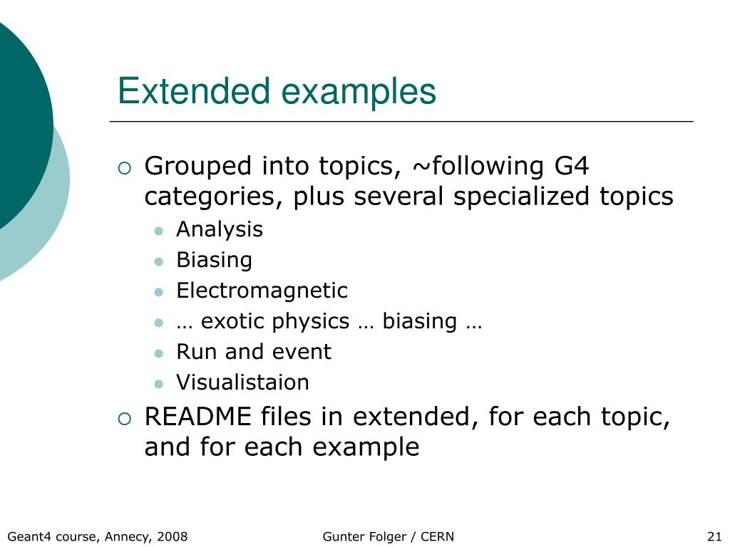 Extended examples