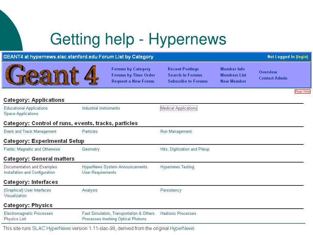 Getting help - Hypernews