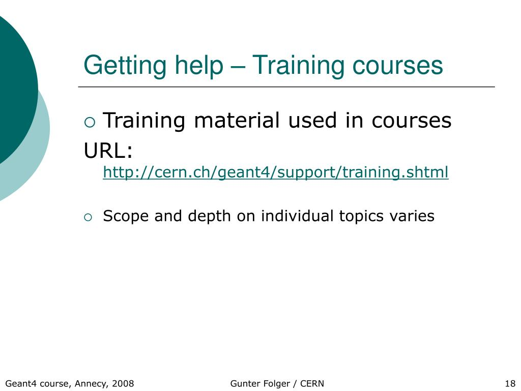 Getting help – Training courses