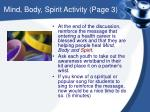 mind body spirit activity page 3