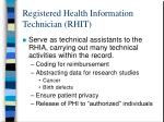 registered health information technician rhit