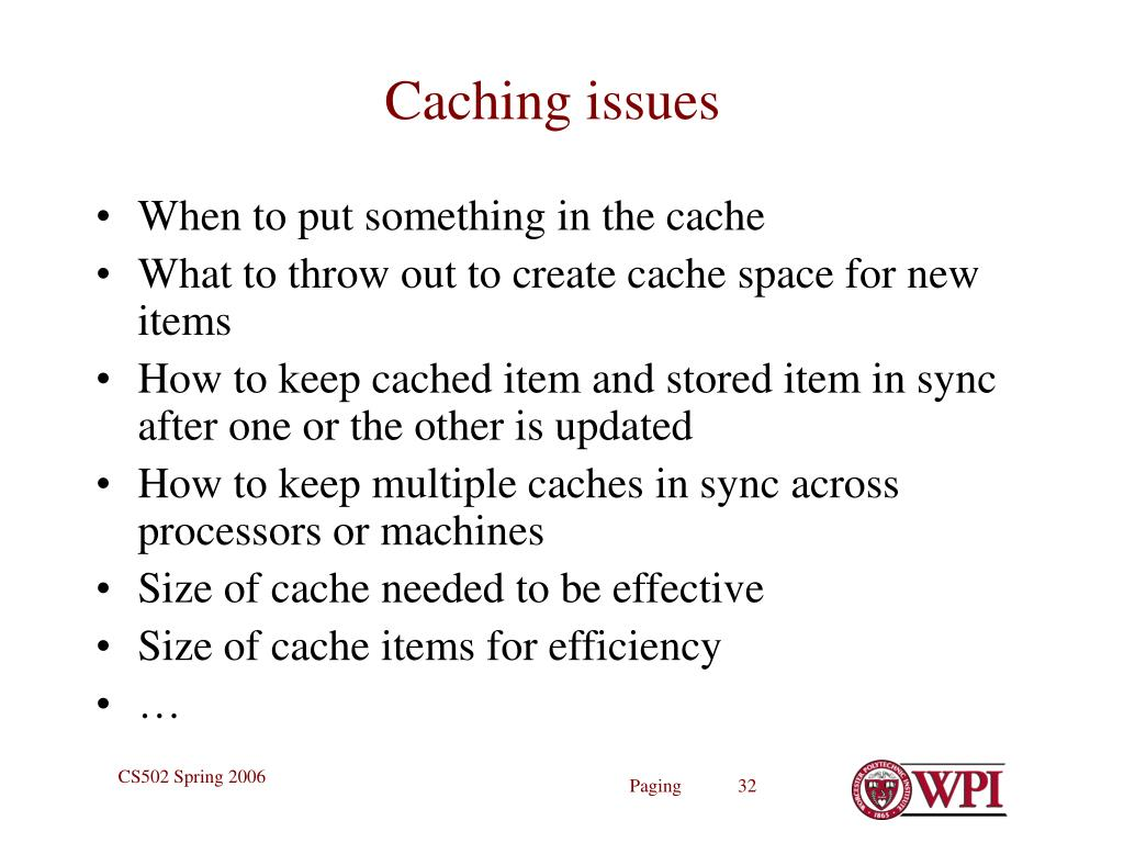 Caching issues