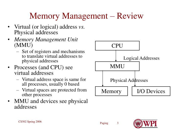 Memory management review