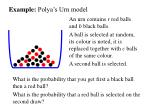 example polya s urn model