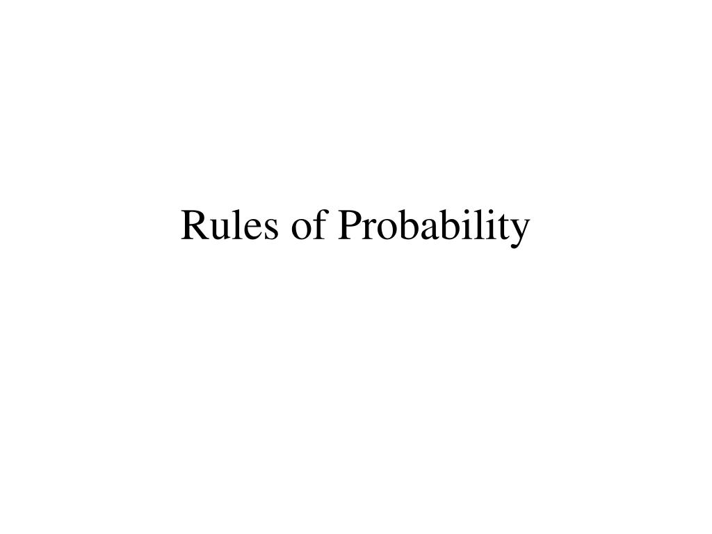 rules of probability l.