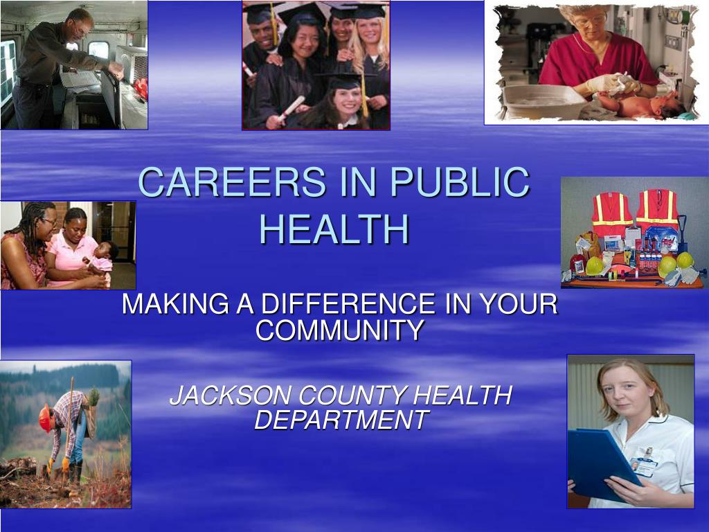 careers in public health l.