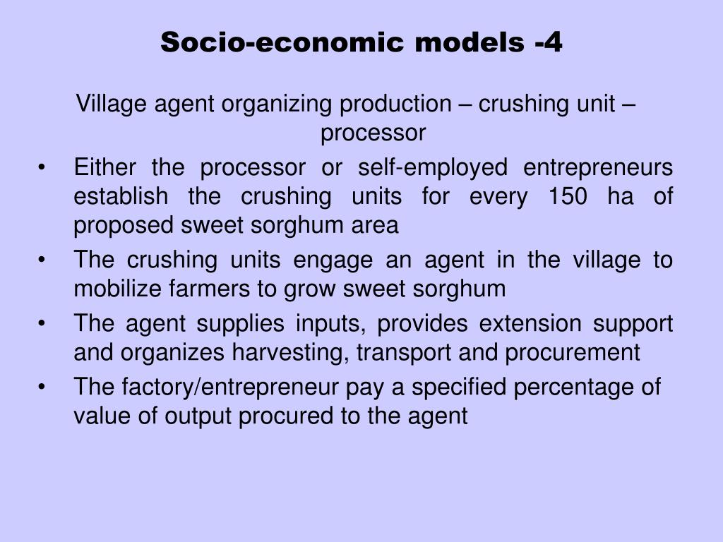 Socio-economic models -4
