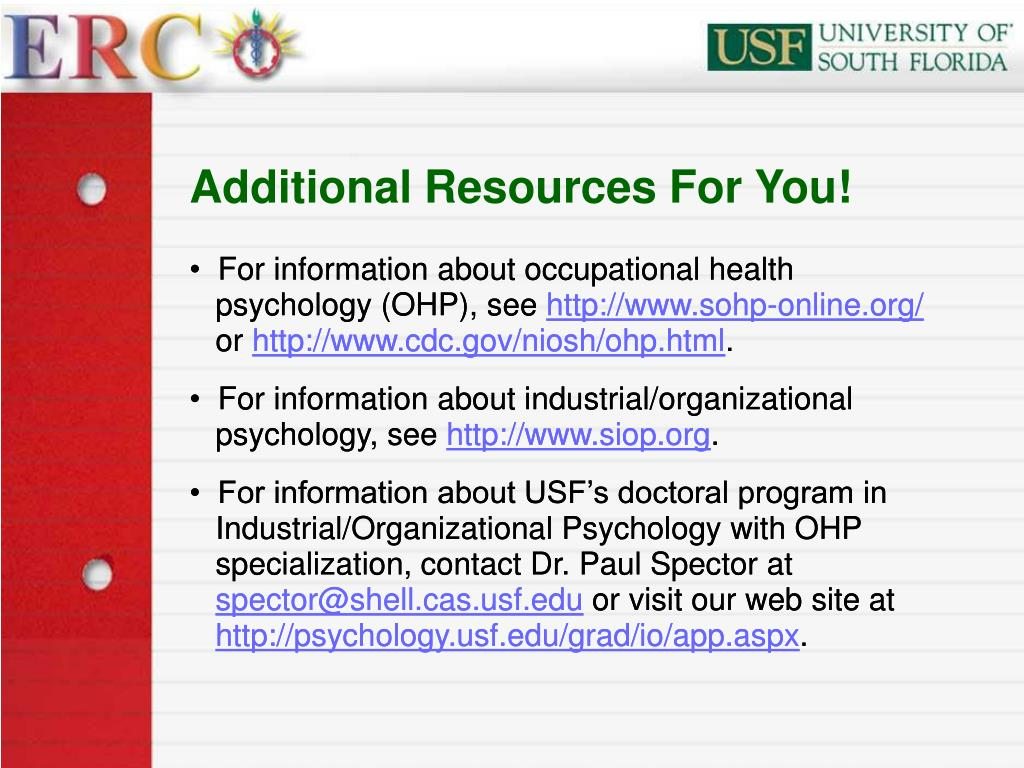 Additional Resources For You!