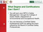 what degree and certifications can i earn