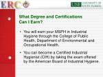 what degree and certifications can i earn31