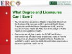 what degree and licensures can i earn19