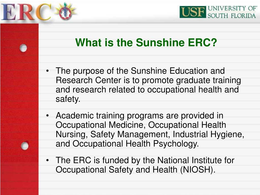 What is the Sunshine ERC?