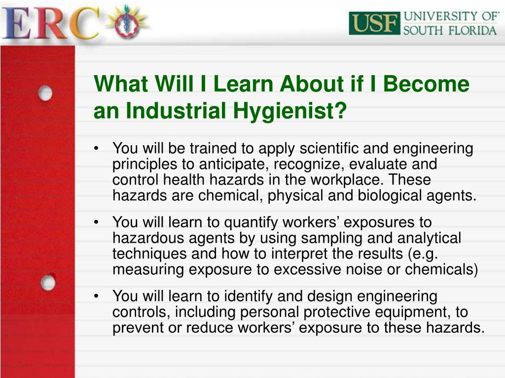 What Will I Learn About if I Become an Industrial Hygienist?