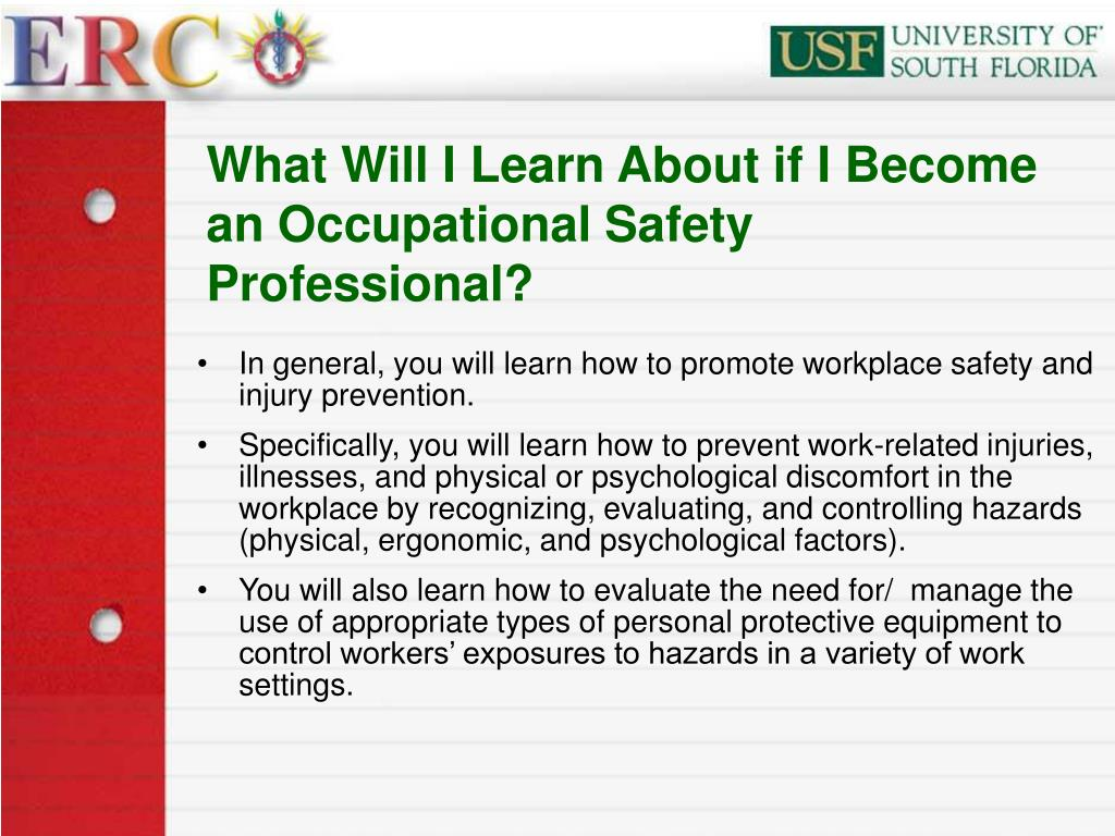 What Will I Learn About if I Become an Occupational Safety Professional?