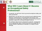 what will i learn about if i become an occupational safety professional
