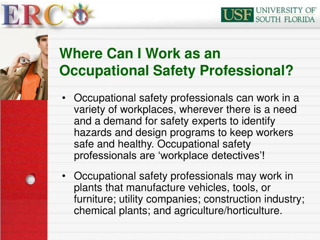 Where Can I Work as an Occupational Safety Professional?