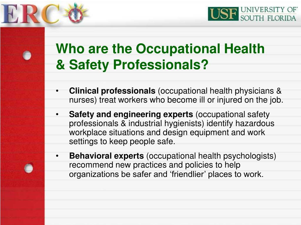 Who are the Occupational Health