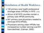 distribution of health workforce