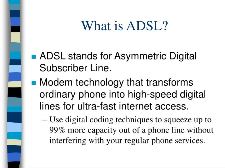 what is adsl n.