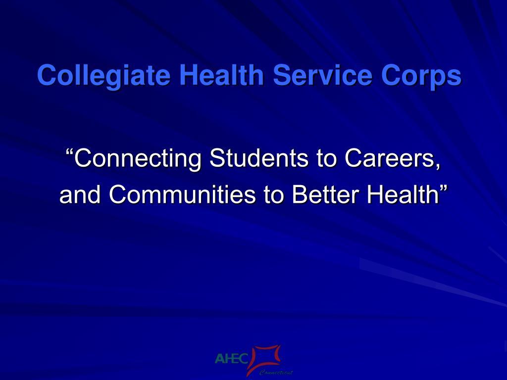collegiate health service corps l.