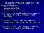 essential program components