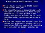 facts about the summer clinics