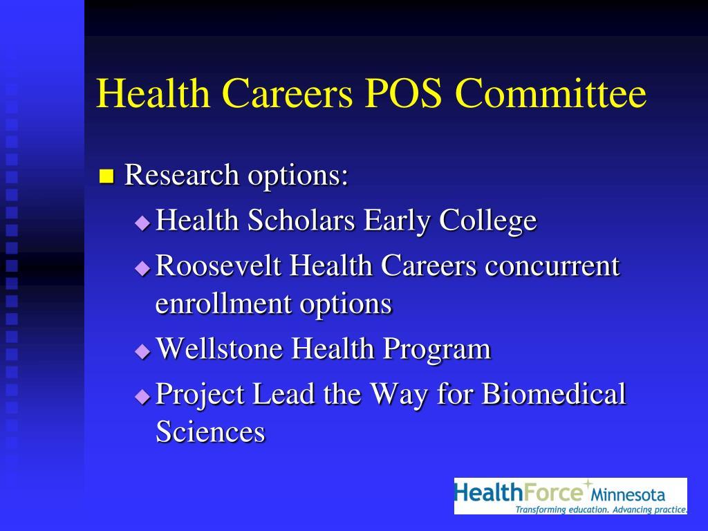 Health Careers POS Committee