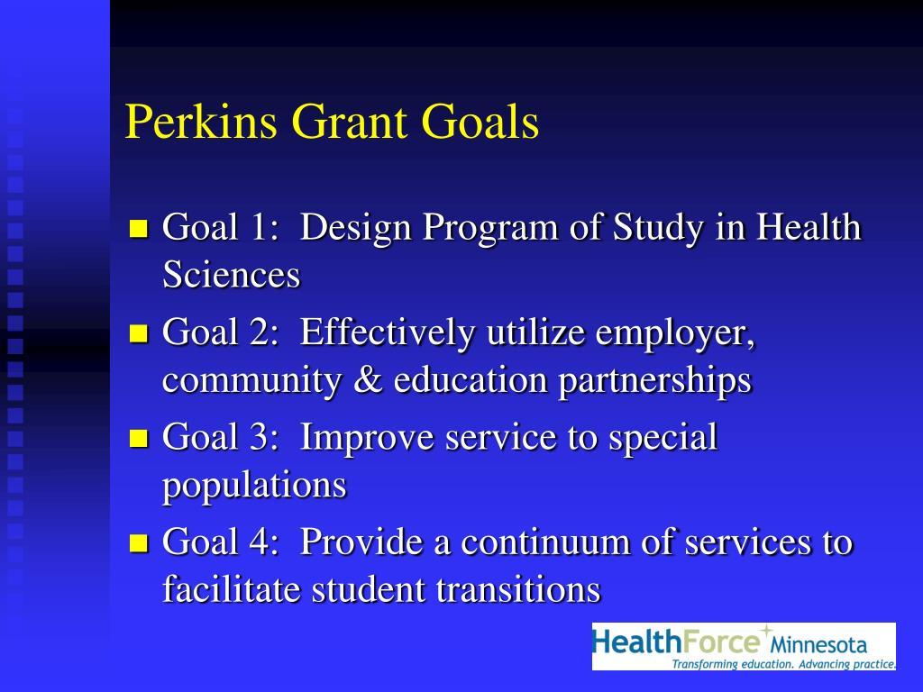 Perkins Grant Goals