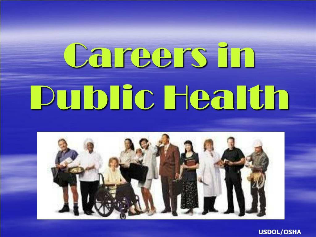 careers in public health l.