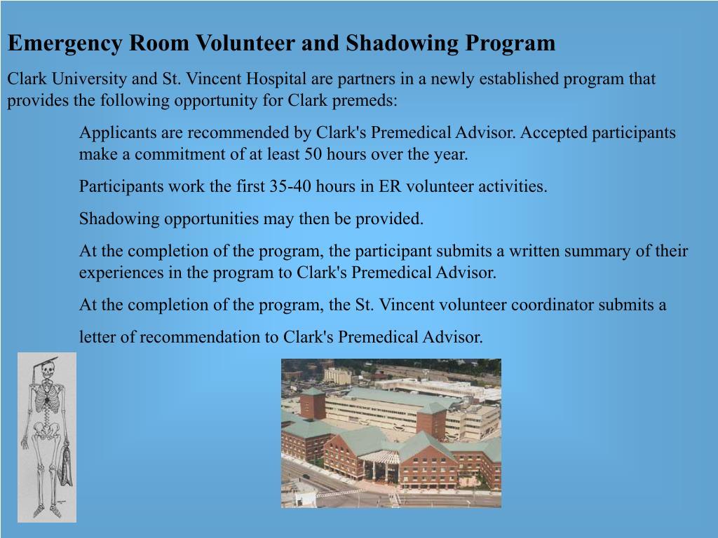 Emergency Room Volunteer and Shadowing Program
