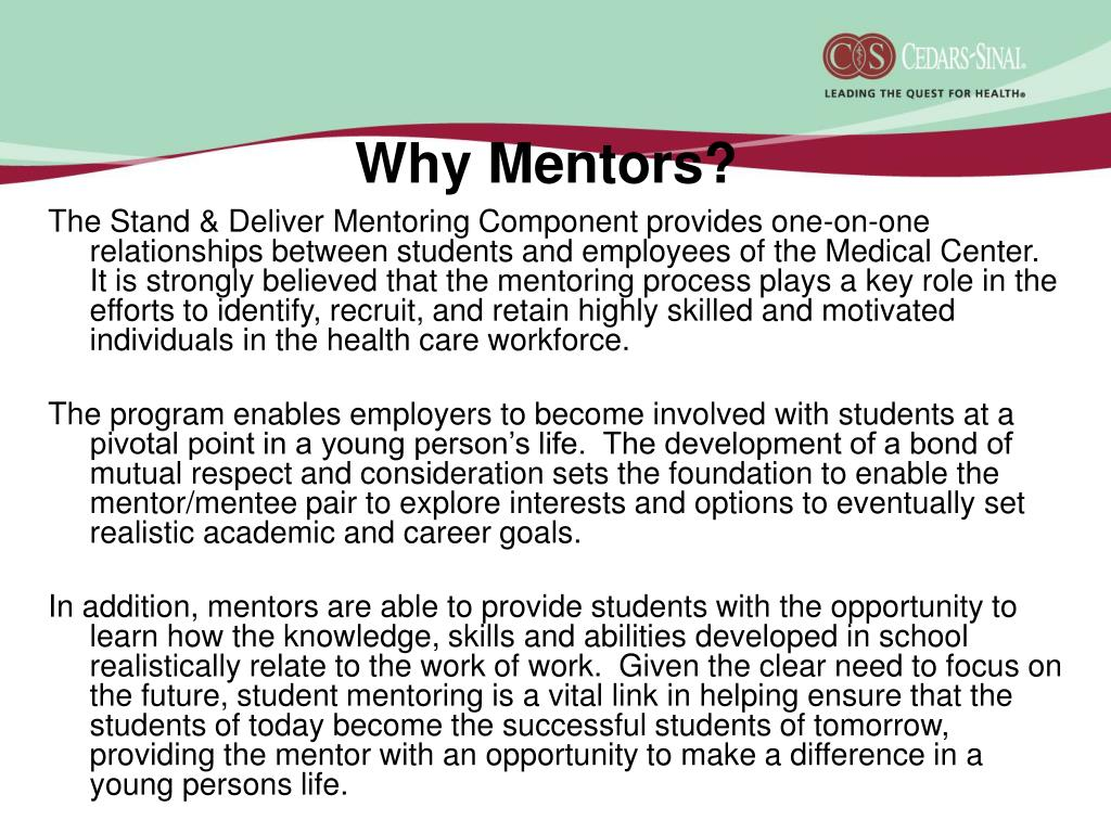 Why Mentors?