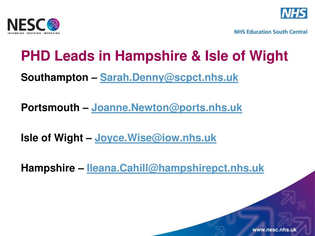 PHD Leads in Hampshire & Isle of Wight