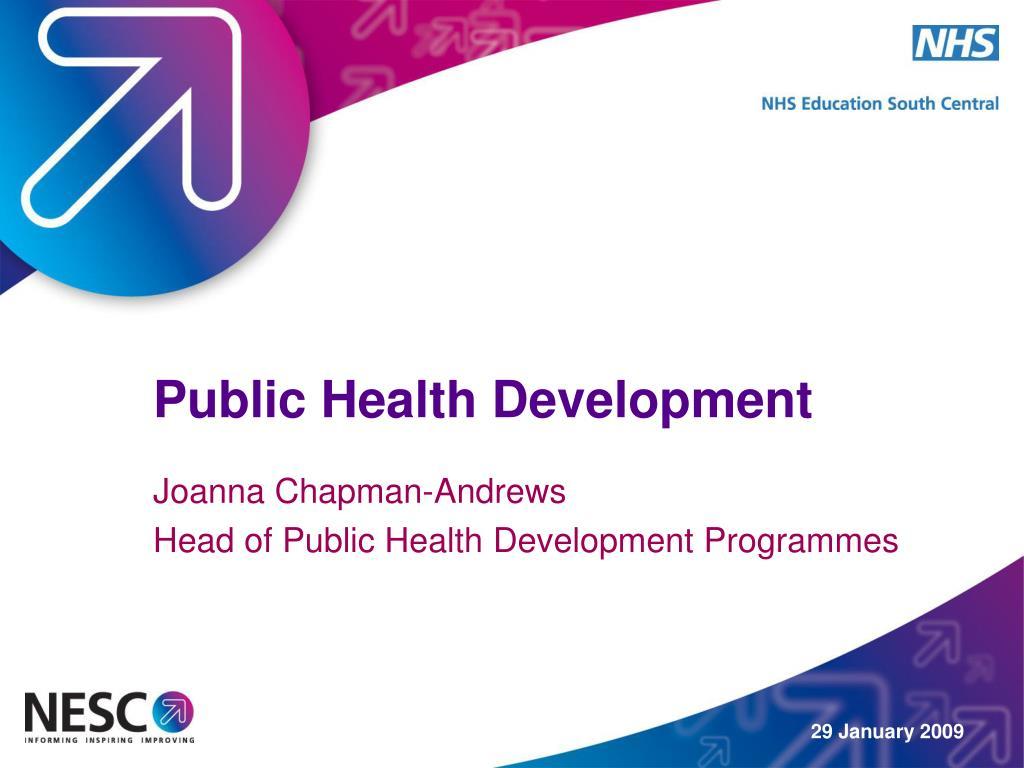 public health development l.
