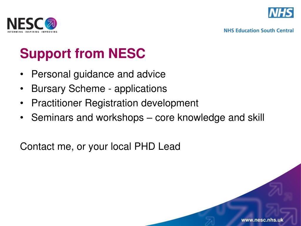 Support from NESC