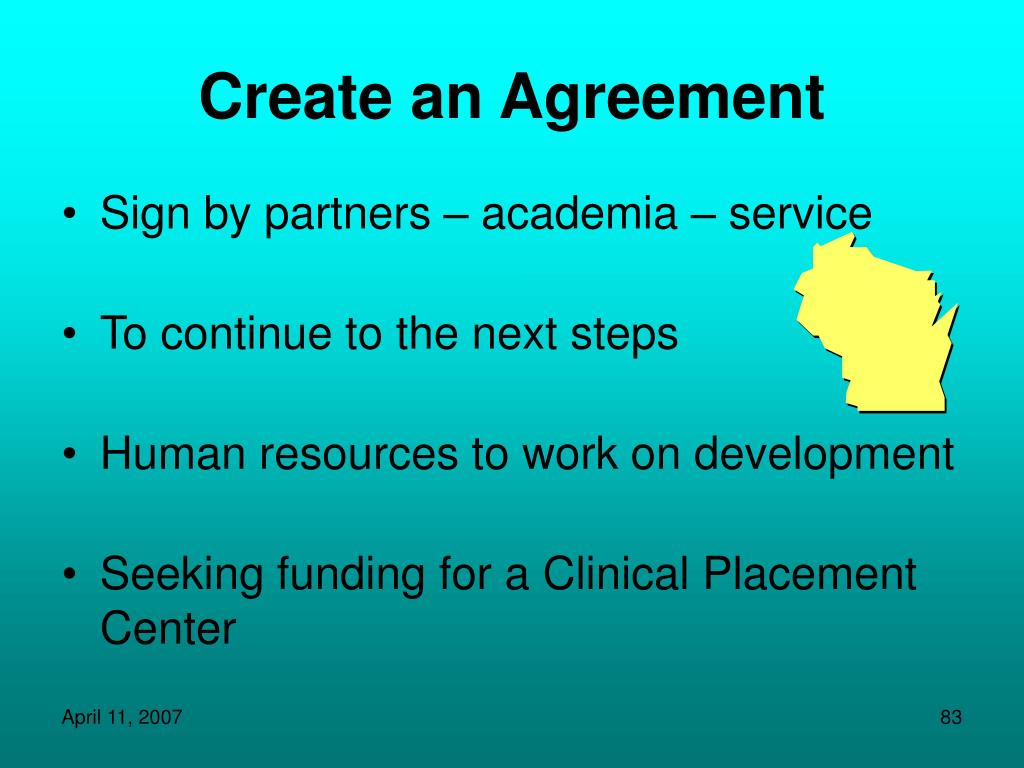 Create an Agreement