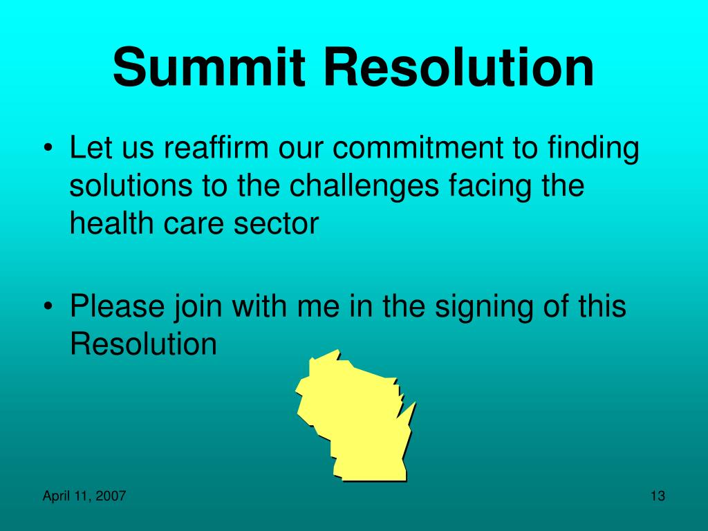 Summit Resolution