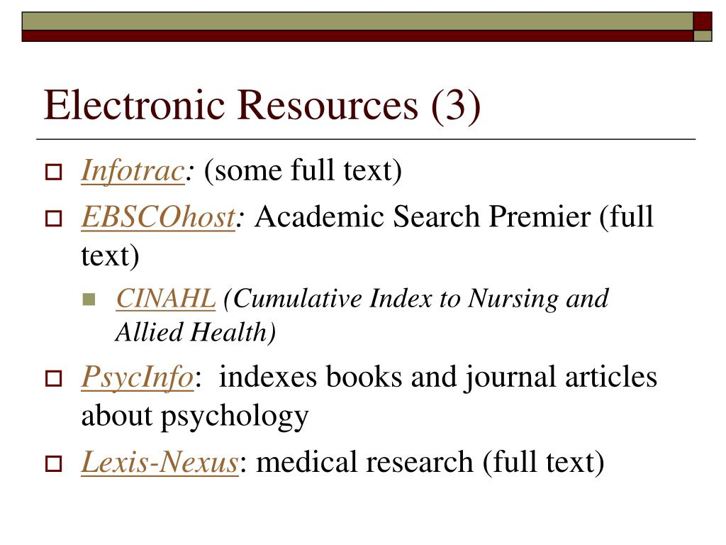 Electronic Resources (3)
