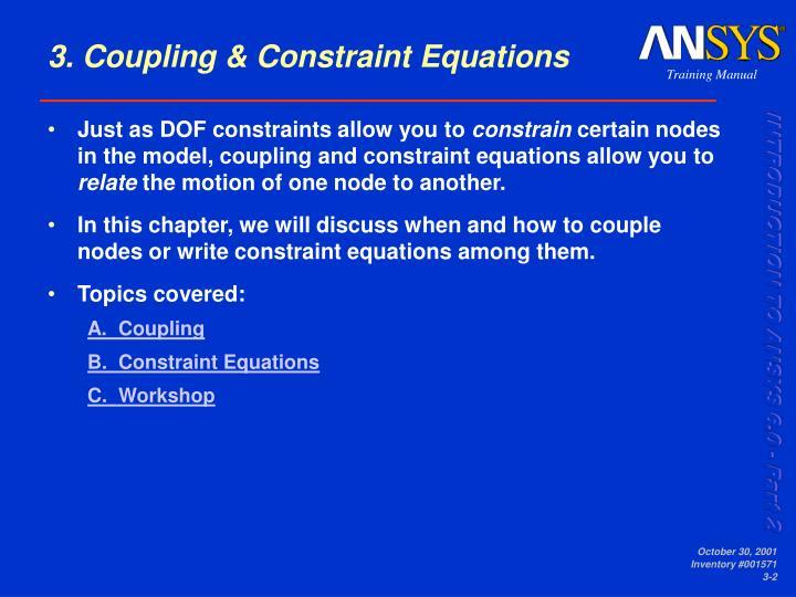 3 coupling constraint equations