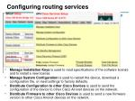 configuring routing services54